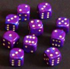 15mm Interferenz Spot Dice - Purple